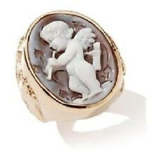 NEW AMEDEO NYC 25MM SARDONYX CHERUB CAMEO BRONZE RING SIZE 5 HSN SOLD OUT