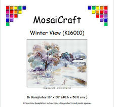 MosaiCraft Pixel Craft Mosaic Kit 'Winter View' (Incl. Dove Tail Clips)