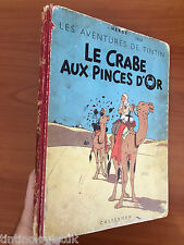 Tintin: Le Crabe Aux Pinces D' Or 1950 Belgian Edition Originale EO Herge first
