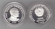 MOZAMBIQUE - SILVER PROOF 1000 METICAIS COIN 1988 YEAR KM#109a PAPA JOAN PAUL II