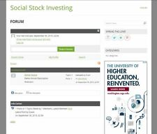 www.SocialStockInvesting.com Website Domain Name Stock Investing Forum