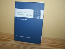Mercedes-Benz Unimog and MB-trac Factory Technical Data Book 1986 English - NEW