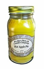 Hot Apple Pie Scented 18.5 oz Mason Jar Candle - Made in the USA by Our Own Cand