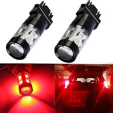 JDM ASTAR 50W CREE 3157 3156 Pure Red LED Car Turn Signal Brake Tail Light Bulbs