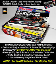 2 Custom Display Cases: AW SUMMIT Pro Racing #CP5975  Set Only Cars  JL AFX Like
