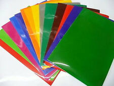 10X ANY COLOUR SELF ADHESIVE VINYL A4 SHEETS CRAFT ROBO