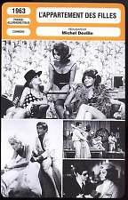 L'APPARTEMENT DES FILLES - M.Demongeot (Fiche Cinéma) 1963 - Girl's Apartment