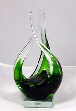 "Hand Blown Murano Glass Sculpture ""Contemporary"" (Fluid Design) 10.25"" h x 5"" w"