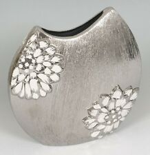 Modern Silver Ceramic Vase for artificial flower / floral arrangement