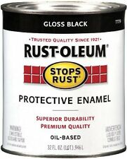 RustOleum 7779504 Protective Enamel Paint Stops Rust, 32Ounce, Gloss Black, New