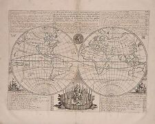Antique map, Mappe monde .. des Compagnies d'Orient et d'Occident