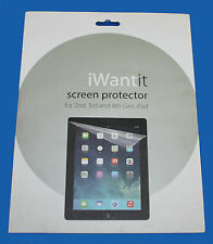 iwantit SCREEN PROTECTOR WITH CLEANING CLOTH FOR 2nd, 3rd & 4th Gen iPAD