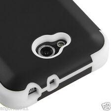 LG OPTIMUS L90 D415 TMOBILE METRO HYBRID T ARMOR CASE SKIN COVER BLACK WHITE