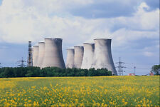 801026 Cottam Power Station With Rapeseed Nottinghamshire England A4 Photo Print
