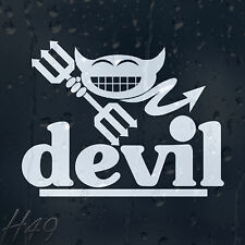 Funny Smiley Devil Car Decal Vinyl Sticker