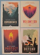 FIREWATCH Olly Moss EXPERIENCE Defend PROTECT MINI ART PRINT SET Poster Postcard