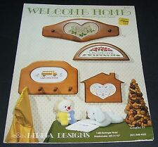 CDA COUNTED CROSS STITCH PATTERN LEAFLET WELCOME HOME #13 00P 1987