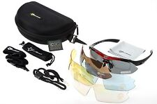 RockBros Cycling Polarized Glasses Sports Sunglasses Goggles UV400 Black Red