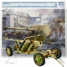 TRUMPETER 1/35 GERMAN 88 WITH CRUCIFORM MOUNT 341 Pieces +PE+ Metal Brass Barrel