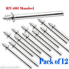 """Pack of 12  1/8"""" Shank  Mandrel  for Dremel 401  Rotary Tool  414 422 429 Felt"""