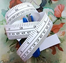"60"" White Matte Self Adhesive Vinyl Measuring Tape / Ruler Sticker Stickymeasure"