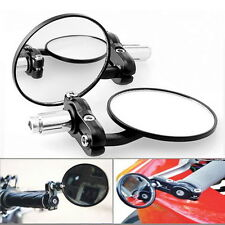 1 Pair Motorcycle Round 7/8 Handle Bar End Foldable Rear View Side Mirrors OE