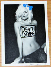 SMALL DEATH NYC Artist Proof Print Kate Moss - Banksy D Face Emin Interest