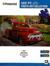 "Jigsaw Puzzle 500pc Polaroid 1952 Red Ford Puckup Truck 11""x 18-1/4"" NEW #TY58"