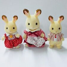 Random 3pcs Calico Critters Sylvanian Families Epoch CHOCOLATE RABBIT FAMILY Toy