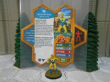 Heroscape Custom Booster Gold Double Sided Card & Figure w/ Sleeve DC