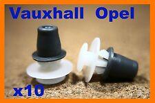 10 Vauxhall GM Opel Door side trim rubbing strip panel plastic fastener clips