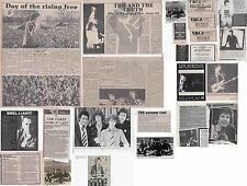 TOM ROBINSON : CUTTINGS COLLECTION -adverts etc-