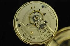 VINTAGE 18S WALTHAM SWING OUT POCKET WATCH GRADE 15 FROM 1889 DISPLAY BACK CASE