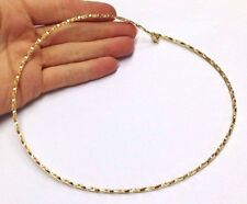 "Fine! NEW Shimmering Solid 14K Yellow Gold Woven Omega Necklace 17.5"" 2.5mm"