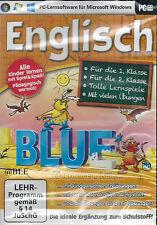 PC CD-ROM + software didattico + imparare + giochi + inglese + 1./2. CLASSE + Win 8