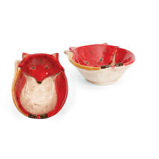 68206 Red Fox Serving Bowl Woodland Friends Wildlife Hunting Cabin Lodge Candy