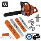 """EASY START 20"""" & 12"""" Petrol Chainsaw Brand New Complete With 2 Bars, 2 Chains"""