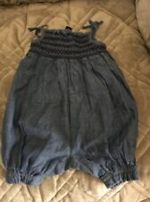 BABY GAP Sleeveless Denim Jumper Shorts. EUC Size - Up To 3 Months.