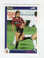 figurina card - CALCIATORI CARD SCORE 1993  - numero 123 FOGGIA NICOLI