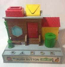 Vintage 1974 Sesame Street Questor Child Guidance Push Button Toy Playset TLC