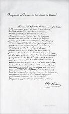 FRAGMENT d'un DISCOURS sur la CALOMNIE de CHÉNIER - Fac simile du 19eme siècle