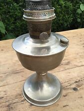 VINTAGE MID 20TH C ALADDIN #21 SILVER METAl OIL LAMP - NEEDS ATTENTION