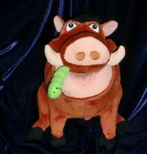 THE LION KING STUFFED PLUSH PUMBAA GRUB WORM CATERPILLAR TALK BURP FART FEED ME
