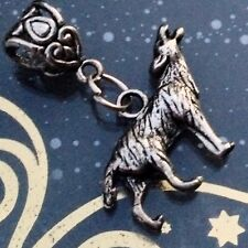 TEAM JACOB Silver WOLF HOWL Dangle Pendant TWILIGHT PACK European Bracelet Charm