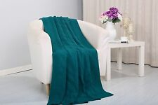 Soft Plush Pietra Knitted Fabric Throw Coverlet Couch Cover Sofa Blanket, 50x60
