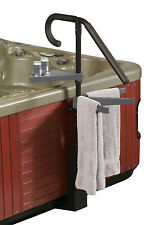 Blue Wave Deluxe Spa Caddy & Handrail - Features Beverage Tray & Towel Holder