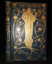 THE CHILDREN Alice Meynell FINE BINDING 1897 Illus CHARLES ROBINSON Antique BOOK