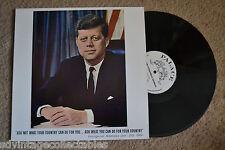 JFK Inaugural Address Jan. 20,1961 Memorial Tribute rare version RECORD LP NM