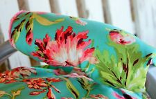 teal and pink flowers with coral minky infant car seat carrier handle cushion
