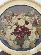 Elie MAINGONNAT Aubusson Tapisserie 1930 French Art Deco Fleur Flower Ronde